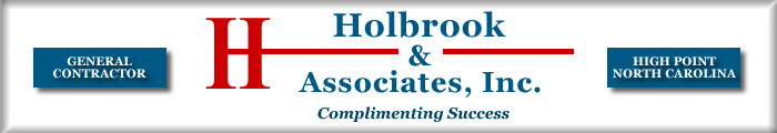 Holbrook and Associates, General contractor, High Point, NC